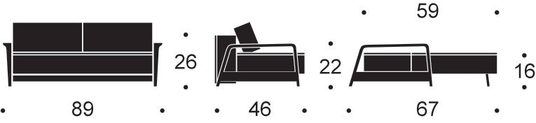Movie Night Sofa Bed measurements