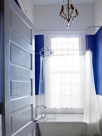 bright blue paint bathroom