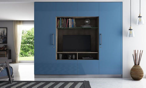 Wall divider entertainment unit