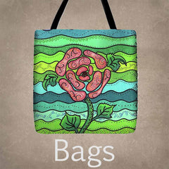 Tote and Cosmetics Bags from Raspberry Lane Home Collection For Sale