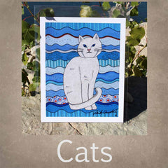 Cat Art Prints 8 x 10 inches for Sale from Artist Wendy Christine