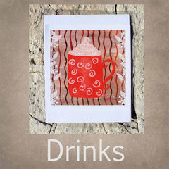 Coffee and Tea Art Prints for Sale 8 x 8 inches