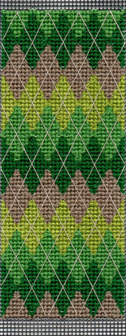 New Free Green Argyle Cross Stitch Pattern for Sale