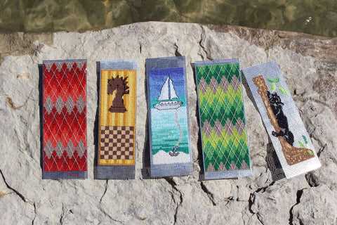 Sailboat Chess and Jungle Cross Stitch Bookmark Patterns for Sale from Raspberry Lane Crafts