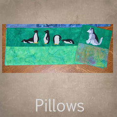 Pillow patterns available to purchase at Raspberry Lane Crafts