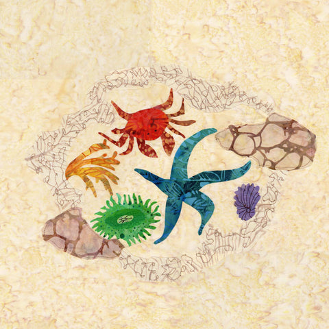 Tide Pool Animals Quilt Block Pattern for Sale at Raspberry Lane Crafts