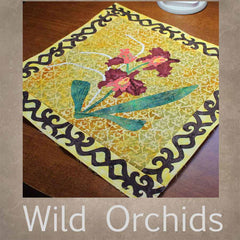 Wild Orchid Quilt Patterns Burgundy Bliss Blue Orchid Orange Thai Orchid for sale