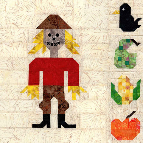 The Scarecrow Quilt Autumn Fall Pattern Halloween for Sale at Raspberry Lane Crafts.