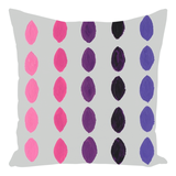 Yucatan Niebla Throw Pillows are purple, pink and gray.  For sale at Raspberry Lane Crafts.