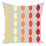 Red orange yellow throw pillow for sale at Raspberry Lane Crafts