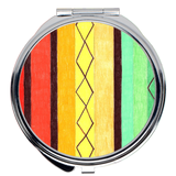 Cabana Compact Mirrors are Round or Square with colorful stripes.  Great for purses and make-up checks.  For Sale at Raspberry Lane Crafts.