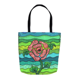 Blue Stone Tote Bags