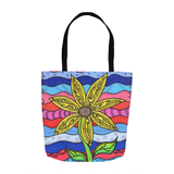 Three Sizes Sunflower Tote Bag for Sale
