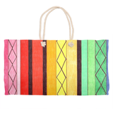 Cabana Weekender Bag by Wendy Christine for Sale at Raspberry Lane Crafts. Colorful Striped Bag