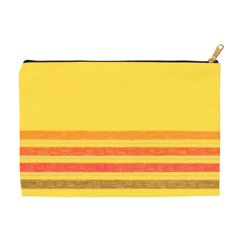 Yellow Stripe Accessory Pouches