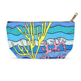 Coral Blue Zipper Carry-All Bag for Sale at Raspberry Lane Crafts.