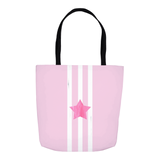 Pink star and stripes bag for sale at Raspberry Lane Crafts