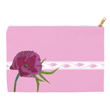 Pink Blush Peony Bubblegum Accessory Pouches