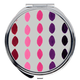 Round Compact Mirrors with Hot Pink and Purple for Sale Accessorize at Raspberry Lane Crafts.