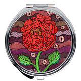 Red Rose Art Compact Purse Mirrors for Sale from Wendy Christine