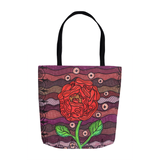 Red Flower Tote Bags for Sale at Great Prices
