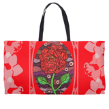 Red Rose Weekend tote bag for sale from Raspberry Lane Crafts