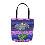 Purple Flower Tote Bag for Sale 13 x 13 inches