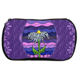 Grapesugar Cosmetics Bags feature a blue coneflower on shades of purple.  Made of neoprene.  Zipper Bag for Sale at Raspberry Lane Crafts