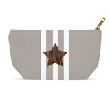 Brown star zipper bag for sale at Raspberry Lane Crafts.