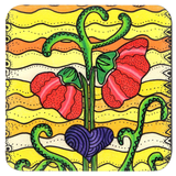 Forty-Three Yellow Flower Drink Coaster in Set of Four for Sale at Raspberry Lane Crafts