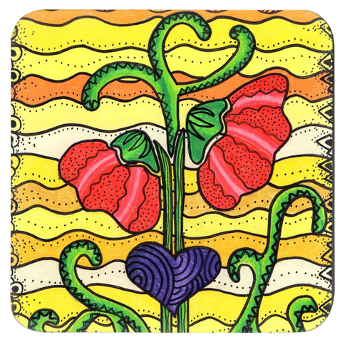 Art of Wendy Christine's Flowers Coasters