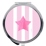 Pink Star Compact Mirrors to perfect your make-up on the go!  Buy at Raspberry Lane Crafts.