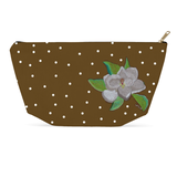 Magnolia Tree Blossom Dot Accessory Pouches