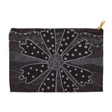 Black flower pencil case with zipper for sale