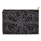 Charcoal Daisy Accessory Pouches