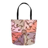 Peach Mauve Tan Tote Bag for Sale from The Raspberry Lane Home Collection