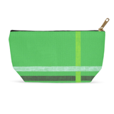 Green Flag Carry-All Shave Bag with Zipper for Sale at Raspberry Lane Home Collection.