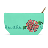 Aqua Blue Cosmetics Bag with Zipper for Sale at Raspberry Lane Crafts