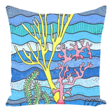 Coral Island Throw Pillow by Wendy Christine.  For sale at Raspberry Lane Crafts