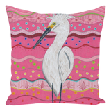 Buy Pink Accent Pillows with White Shorebird