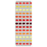 Yucatan Fuega Yoga Mat by Wendy Christine features orange yellow and red on cloud gray for a beautiful yoga experience.  For Sale.