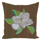Buy Brown Accent Pillows with Flowers