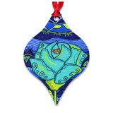 Buy Aqua Rose Southwest Metal Christmas Ornament