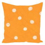 Beach Orange Dot Accent Pillows for Sale