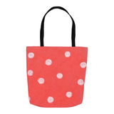 Coral Reef Dot Tote Bags for Sale at Raspberry Lane Crafts