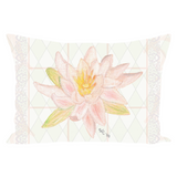 Peach Lotus by Wendy Christine Throw Pillows for Sale