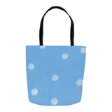 Sea Water Dot Tote Bags