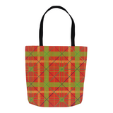 Red Plaid Tote Bags
