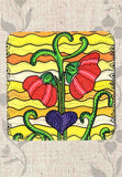The Art of Wendy Christine Drink Coasters Set Flowers for Sale at Raspberry Lane Crafts