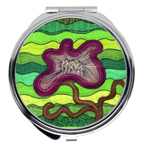 Purple Flower for Mom Compact Mirrors